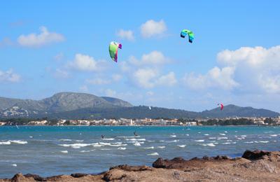 Kitesurfer, Mallorca